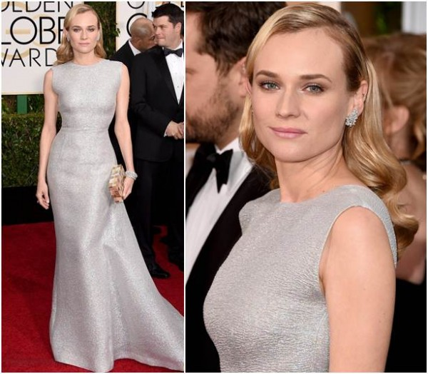 Diane Kruger de vestido Emilia Wickstead, sapatos Brian Atwood, joias Kwiat and Marina B e clutch Emm Kuo.